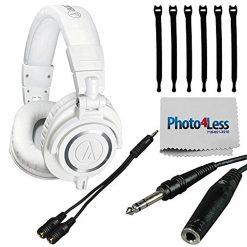 Audio-Technica ATH-M50xWH Professional Monitor Headphones, White
