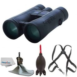 SNYPEX 10x50 Knight ED Water Proof Roof Prism Binocular With Case + Harness + Rocket Air Dust Blaster + Microfiber Spudz Cloth & Cleaning Cloth (10x50)