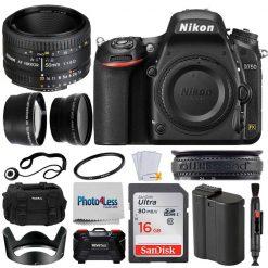 Nikon D750 Digital SLR Camera 3 lens: 50mm f/1.8D 16GB + More Great Value Kit