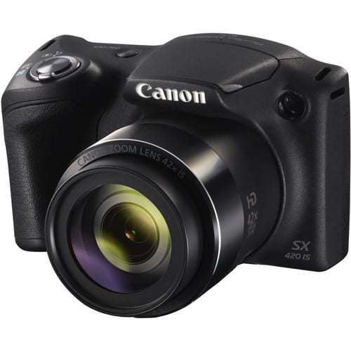 Canon PowerShot SX420 IS 20 MP Digital Camera (Black) with 42x Optical Zoom and Built-In Wi-Fi + Transcend 64GB Card + Deluxe Camera Case + Memory Card Wallet + Cleaning Kit + Hand Grip + Accessories