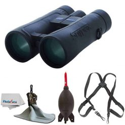 SNYPEX 8x50 Knight ED Water Proof Roof Prism Binocular With Case + Harness + Rocket Air Dust Blaster + Microfiber Spudz Cloth & Cleaning Cloth (8x50)