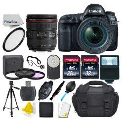 Canon EOS 5D Mark IV DSLR + 24-70mm f/4L IS Lens +64 GB +More Top Value Bundle