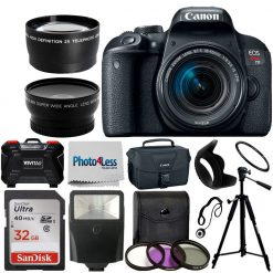 Canon EOS Rebel T7i 24.2MP Digital SLR Camera with 18-55mm Lens