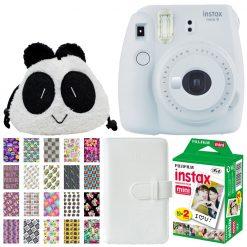 Fujifilm Instax Mini 9 Instant Camera - Smokey White - Kids Deluxe Bundle