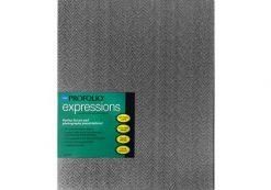 "Itoya ProFolio Expressions 8-1/2"" x 11""- Black Chevrons-BKC-12"