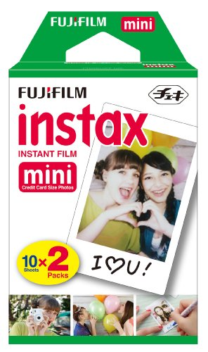Fujifilm INSTAX Mini Instant Film Twin Pack (White) (20 Exposures)