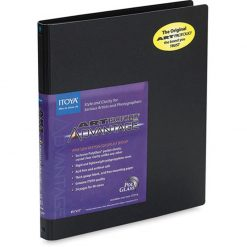 Itoya Profolio Advantage Art Presentation Book 8.5x11 For Art, Photography,  24 PolyGlass Pages for 48 Inserts AD-24-8