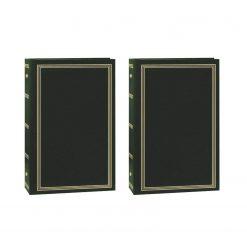 "Pioneer Photo Album 4""X6"", 3-Up, 504 Photos Pocket 3-Ring Binder Album Hunter Green x 2"