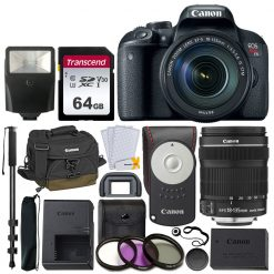 Canon EOS Rebel T7i DSLR Camera & EF-S 18-135mm Lens + Acc.