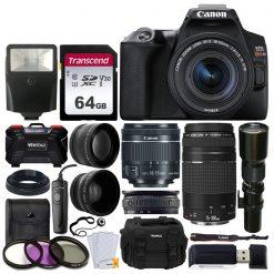 Canon EOS Rebel SL3 Camera (BK) + 3 Lens Kit