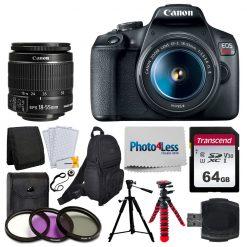 Canon EOS Rebel T7 DSLR Camera Accessory Lens Kit