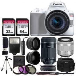 Canon EOS Rebel SL3 Camera (WH) + Lenses & Acc. Kit