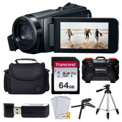 Canon Vixia HF W10 Waterproof Camcorder + Accessories