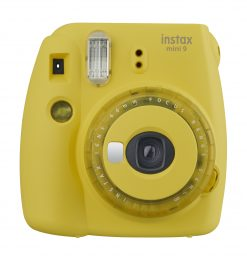 Fujifilm Instax Mini 9 Instant Camera - Yellow with Clear Accents