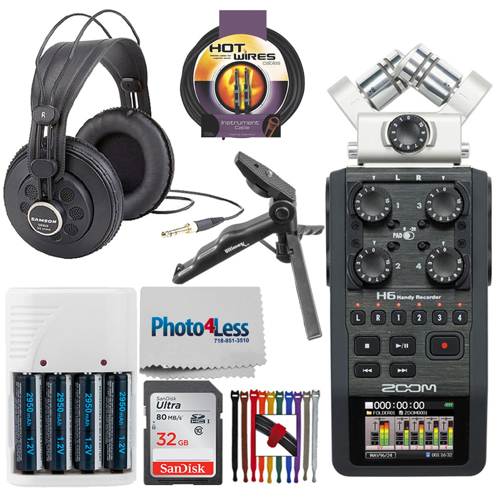 Zoom H6 Portable Recorder + Accessories