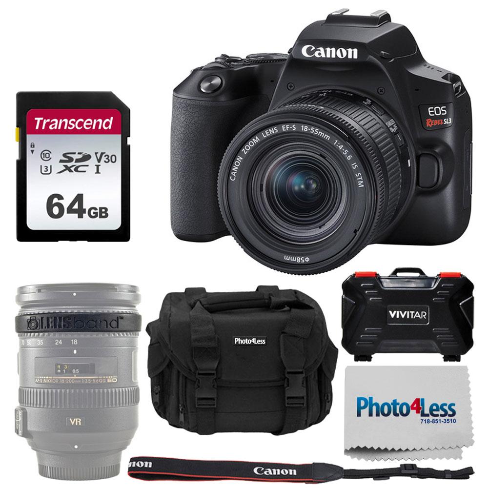 Photo//Video Light Vivitar 50 Tripod with Case for Canon EOS M100 Rebel SL3