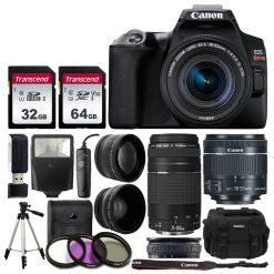Canon EOS Rebel SL3 DSLR Camera + 18-55 & 75-300mm Lens Kit