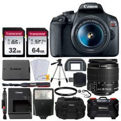 Canon EOS Rebel T7 DSLR Camera + 18-55mm Lens + Accessories