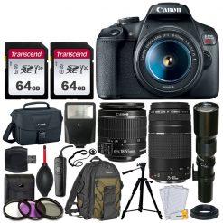 Canon EOS Rebel T7 Digital Camera + 3 Lens Kit