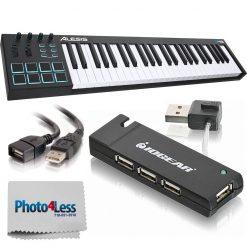 Alesis V49 49-Key USB MIDI Keyboard Controller + High-Quality Accessories