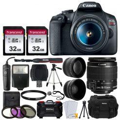 Canon EOS Rebel T7 DSLR Camera + EF-S 18-55mm Lens + Accessories