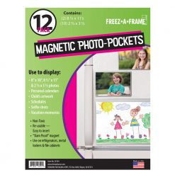 Freez A Frame Clear Magnetic Pockets 12 Pack (2) 8.5 x 11 (10) 2.5 x 3.5