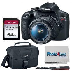 Canon EOS Rebel T7 DSLR Camera + EF-S 18-55mm Lens + Acc.