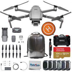 DJI Mavic 2 Pro Drone Quadcopter + Hard Case + Landing Pad - Accessory Bundle