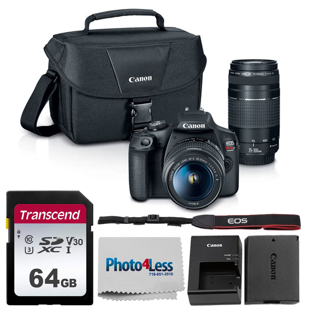 Canon Eos Rebel T7 Dslr Camera 18 55mm Lens Acc Kit