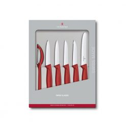 Victorinox Swiss Classic 6 Piece Paring Knife Set, Red