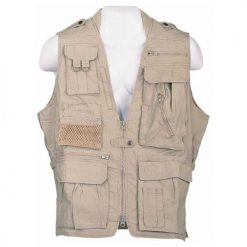HUMVEE HMV-VS-K-XL X-Large Safari Vest with Extra Pockets, Khaki