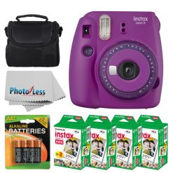 Fujifilm Instax Mini 9 Instant Camera - Purple with Clear Accents