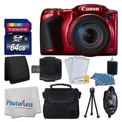 Canon PowerShot SX420 IS 20 MP Digital Camera (Red) with 42x Optical Zoom and Built-In Wi-Fi