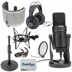 Samson G-Track Pro USB 24-bit Studio Condenser Mic with Audio Interface and shock Mount Cradle