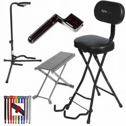 Gator Cases Frameworks Guitar Performance Seat & Single-Guitar Stand Combo