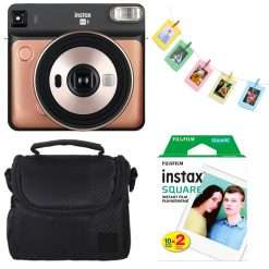 Instax Square SQ6 Instant Film Camera-Blush Gold Kit
