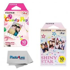 Fuji Instax Mini Instant Films Candy Pop (10 Exposures) + Shiny Stars (10 Exposures)