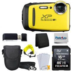 Fujifilm FinePix XP130 Digital Camera Yellow + 16GB SD Card - Accessory  Bundle