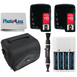 PocketWizard FlexTT6 Transceiver for Canon + Camcorder Bag + Lens Cleaner + Batteries & Charger