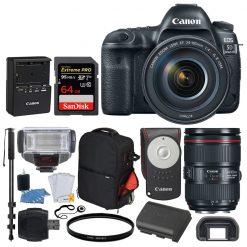 Canon EOS 5D Mark IV DSLR Camera + EF 24-105mm USM Lens + Acc.