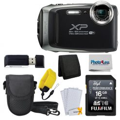 Fujifilm FinePix XP130 Digital Camera Silver + 16GB SD Card - Top Value Bundle