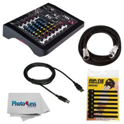 Allen & Heath ZEDi-10FX Hybrid Compact Mixer/4x4 USB Interface with FX + Cable + RipTie