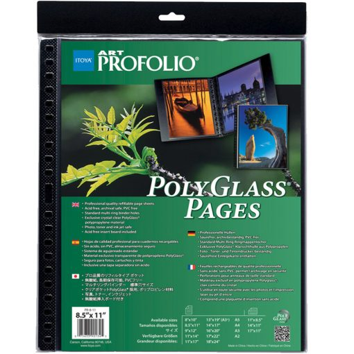 "Itoya ProFolio PolyGlass Pages 9""x12"" 10 sheets"