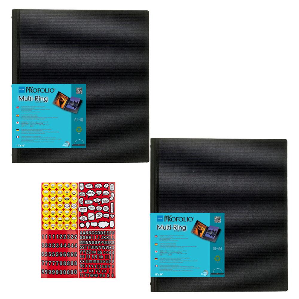 Black Itoya AD24-11 Art Profolio Advantage 11X14 Inch 2-Pack