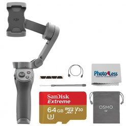 DJI Osmo Mobile 3 Smartphone Gimbal + SanDisk 64GB SD Card + Cleaning Cloth