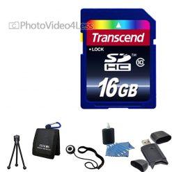 Transcend 16GB Class 10 Memory Card Complete Digital Camera Accessory Kit 16 gb
