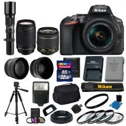 Nikon D5600 + AF-P 18-55 VR DSLR Camera - Black