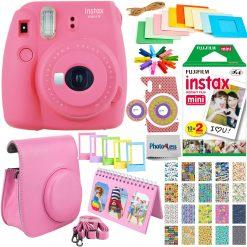Fujifilm Mini 9 Camera + 20 Film + Case + Album Deluxe Pink Accessory Bundle