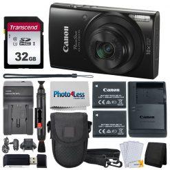 Canon PowerShot ELPH 190 IS Digital Camera Bundle (Black) + Top Value Accessories