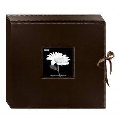 Pioneer 12x12 Memory Book Box,Photo Album Brown With Ribbon Closure